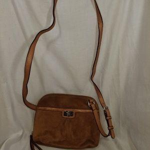 # b8,331 B. Makowsky Shoulder Bag Leather Suede